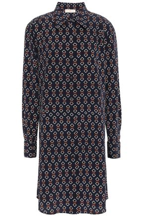 TORY BURCH Silk crepe de chine mini shirt dress