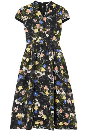 ERDEM Henrietta floral-print cloqué midi dress