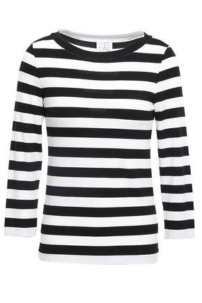 STELLA JEAN Striped jersey top