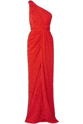 BRANDON MAXWELL One-shoulder jacquard gown