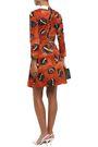 STELLA JEAN Printed stretch-cotton twill mini dress