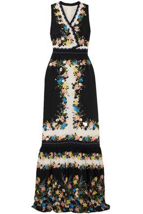 ERDEM Nichole wrap-effect floral-print silk crepe de chine gown