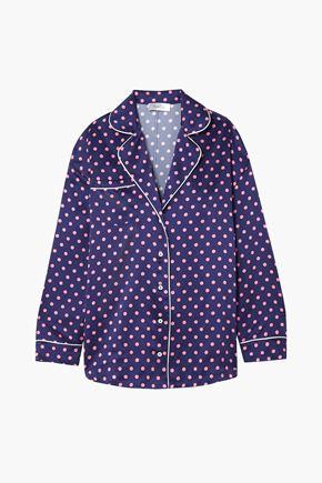 RACIL Traveller polka-dot silk-satin shirt