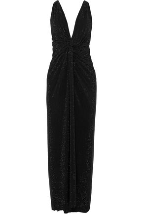 ALEXANDRE VAUTHIER Twisted crystal-embellished crepe gown