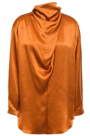 NINA RICCI Draped silk-satin top