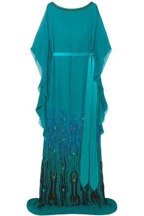 JENNY PACKHAM 装飾付き シフォン ロングドレス