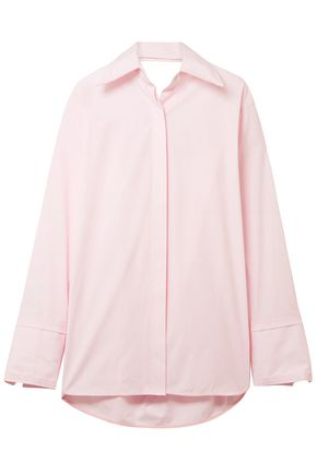 HELMUT LANG Cutout cotton-poplin shirt