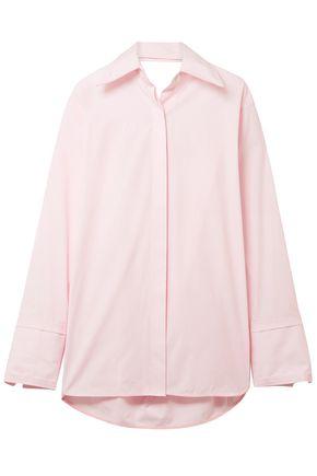 HELMUT LANG Cutout cotton-poplin shirt