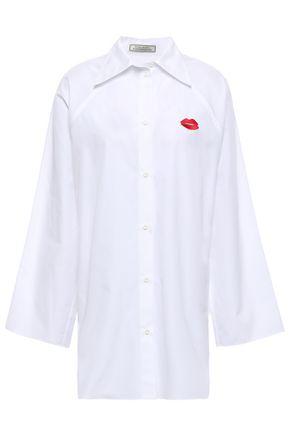 NINA RICCI Appliquéd cotton-poplin shirt