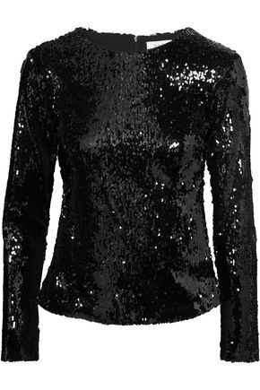 RACIL Judy sequined tulle top