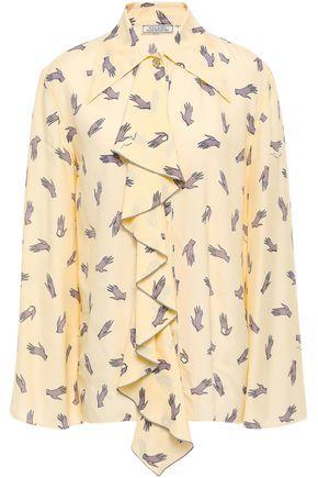 NINA RICCI Ruffled voile shirt