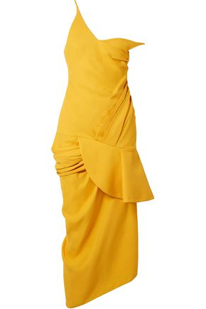JACQUEMUS La Robe Sol off-the-shoulder ruffled canvas midi dress