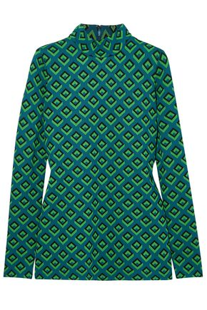 DIANE VON FURSTENBERG Kasen jacquard-knit turtleneck top