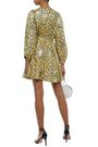 DIANE VON FURSTENBERG Heyford leopard-print silk-blend jacquard mini dress