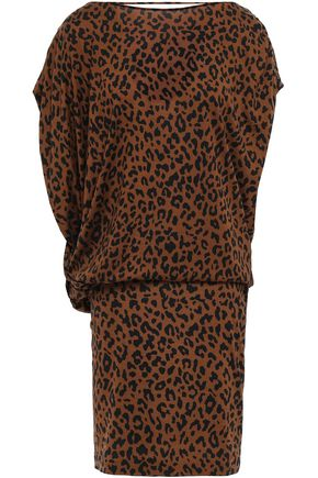 DIANE VON FURSTENBERG Leopard-print silk-jersey mini dress