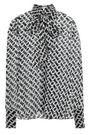 DIANE VON FURSTENBERG Pussy-bow printed silk-chiffon blouse