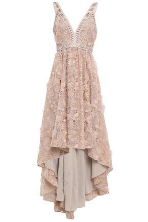 ZAC ZAC POSEN Floral-appliquéd embroidered organza gown