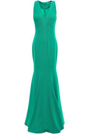 ZAC ZAC POSEN Serena fluted stretch-twill gown