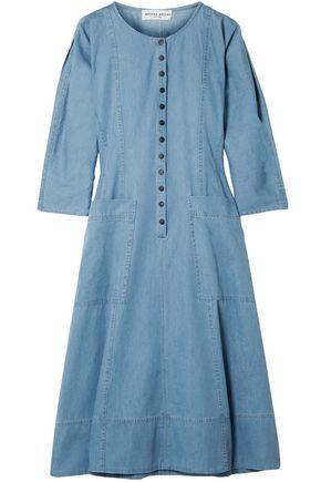 APIECE APART Fernwood cotton-chambray midi dress