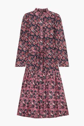 APIECE APART Marijn Dunegrass printed silk midi dress