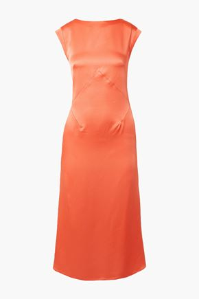 TOME Washed-satin midi dress
