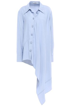 TIBI Asymmetric chambray shirt