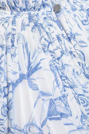 TIBI Edwardian floral-print crepe de chine midi dress
