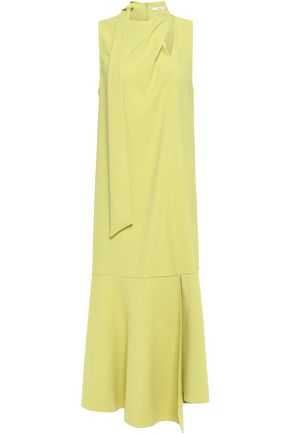 TIBI Cutout stretch-crepe midi dress
