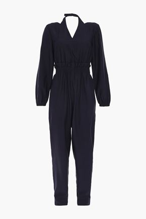 TIBI Gathered twill jumpsuit