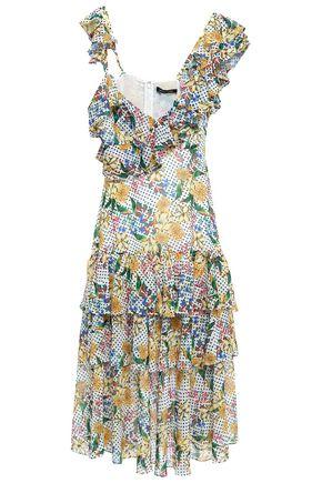 MARISSA WEBB Ruffled tiered georgette midi dress