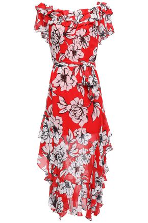MARISSA WEBB Sofia ruffled floral-print silk-gauze midi dress
