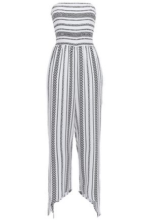 TART COLLECTIONS Cropped printed gauze jumpsuit