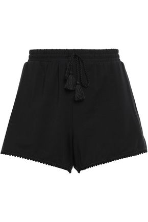 TART COLLECTIONS Tasseled stretch-modal jersey shorts