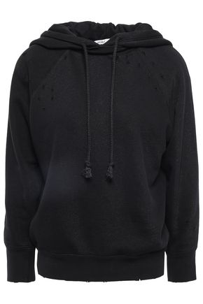 HELMUT LANG Distressed cotton hoodie