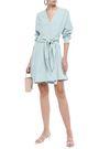TIBI Wrap-effect stretch-crepe mini dress