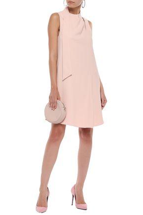 Tibi Woman Tie-Neck Cutout Stretch-Cady Mini Dress Blush