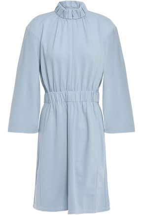 TIBI Gathered stretch-jersey dress