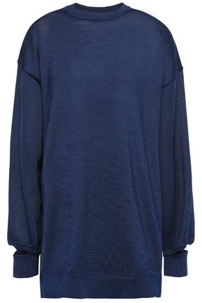 TIBI Cutout stretch-knit sweater