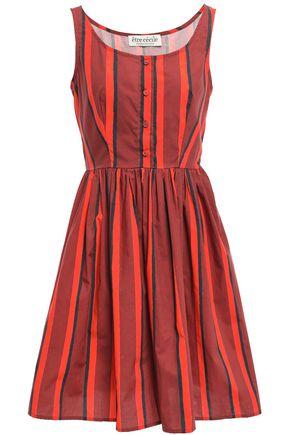 ÊTRE CÉCILE Striped cotton-poplin dress