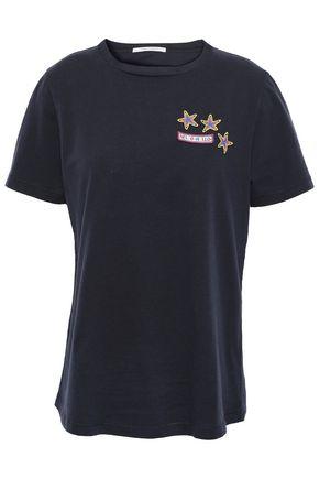 CHINTI AND PARKER Appliquéd cotton-jersey T-shirt