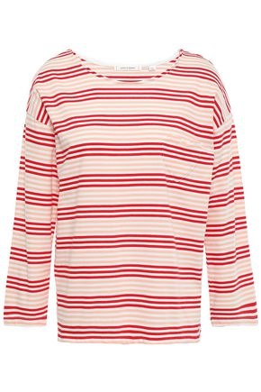 CHINTI & PARKER Striped cotton-jersey top