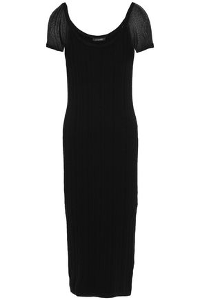 CUSHNIE Ribbed-knit midi dress