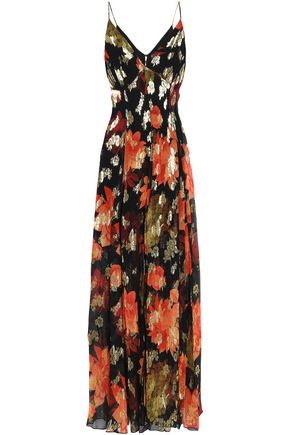 HANEY Silk-blend chiffon maxi dress