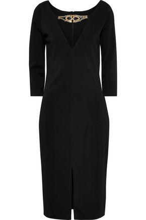 HANEY Nina embellished cady dress
