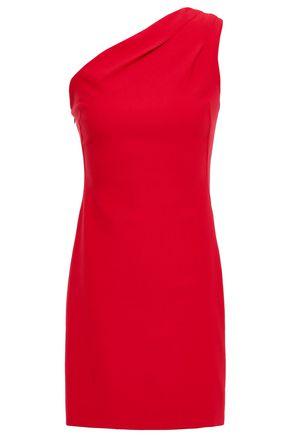 HANEY One-shoulder stretch-crepe mini dress