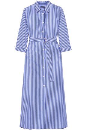 MDS STRIPES Striped cotton-poplin midi dress