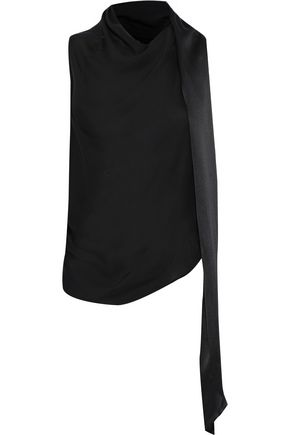 TOM FORD Open-back draped knotted silk top
