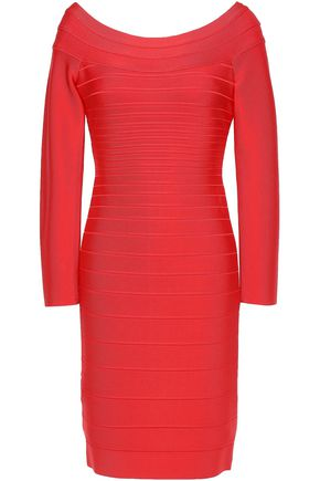 HERVÉ LÉGER Candice off-the-shoulder bandage mini dress