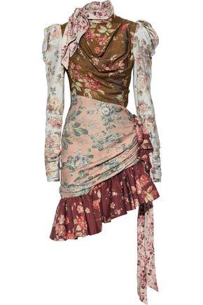 ZIMMERMANN Tempest floral-print stretch silk-twill mini dress