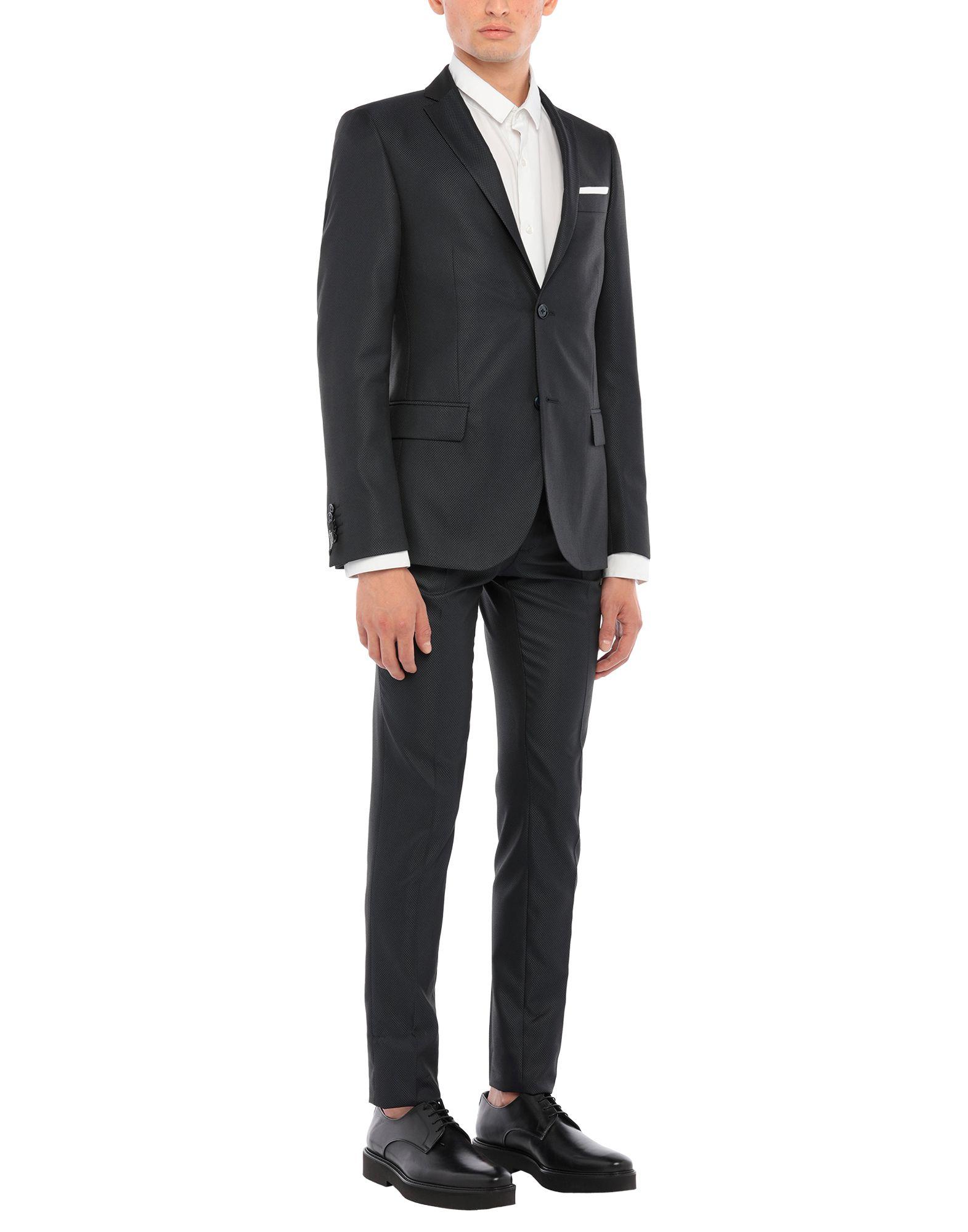 《セール開催中》GREY DANIELE ALESSANDRINI メンズ スーツ ダークブルー 54 ポリエステル 76% / レーヨン 24%